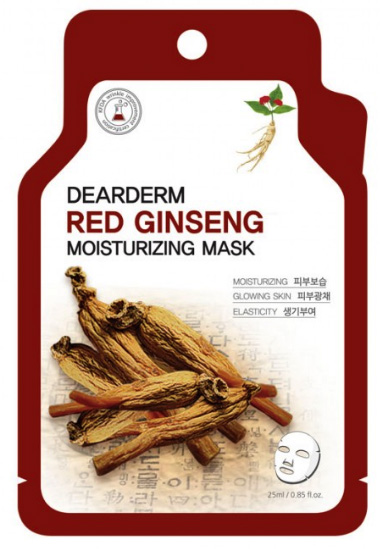 Dearderm Red Gingseng Face Mask