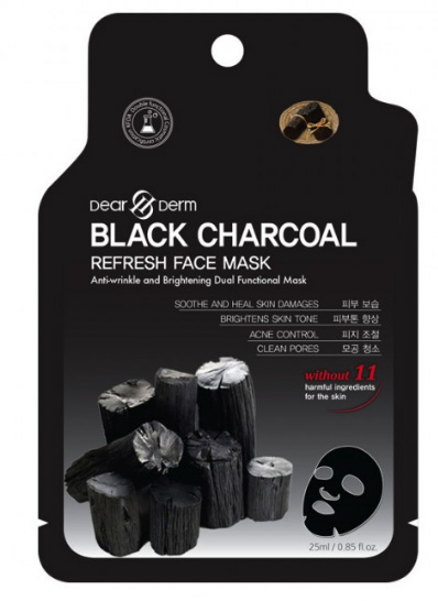 Dearderm Black Charcoal Face Mask