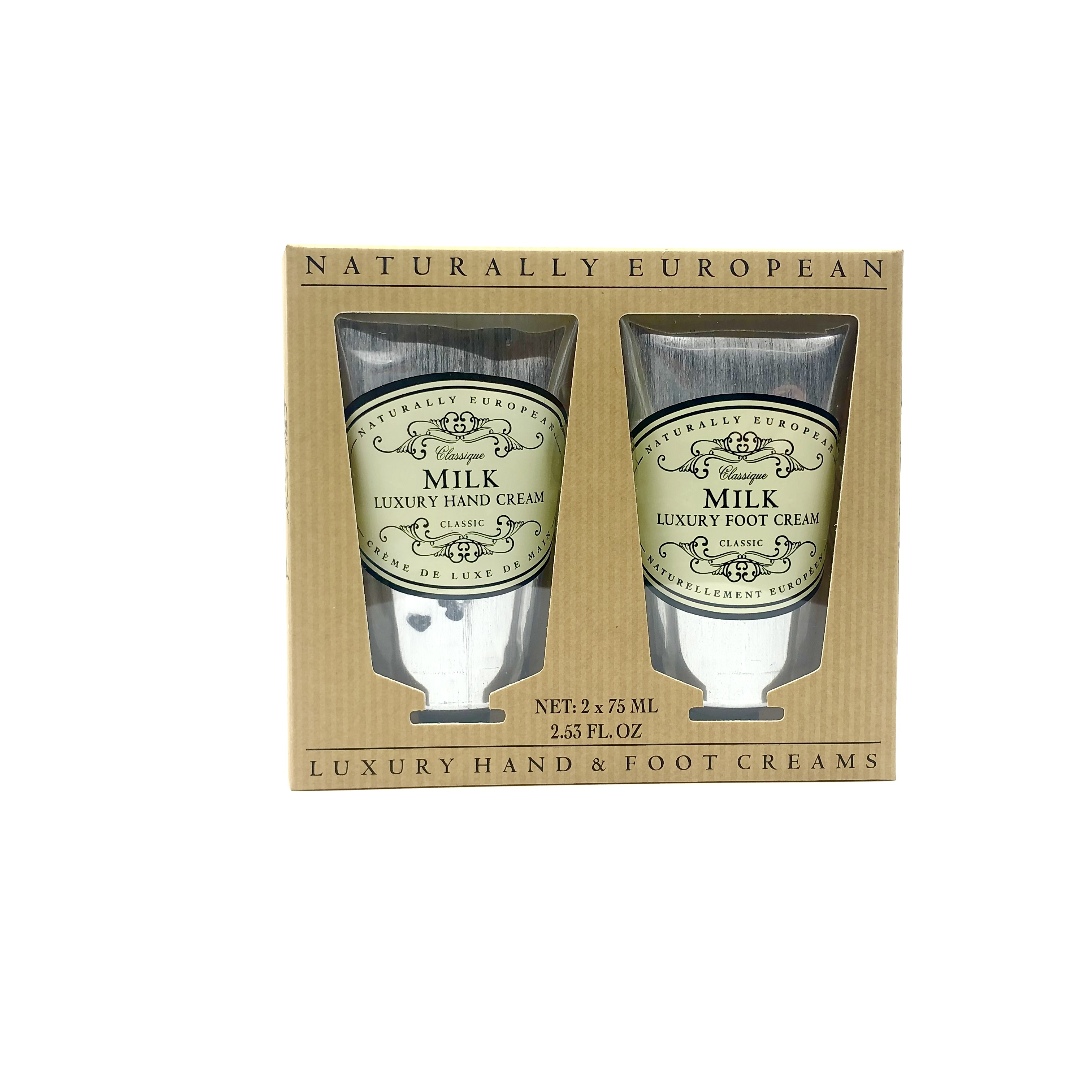 Naturally European Luxury Hand and Foot Creams Set Milk