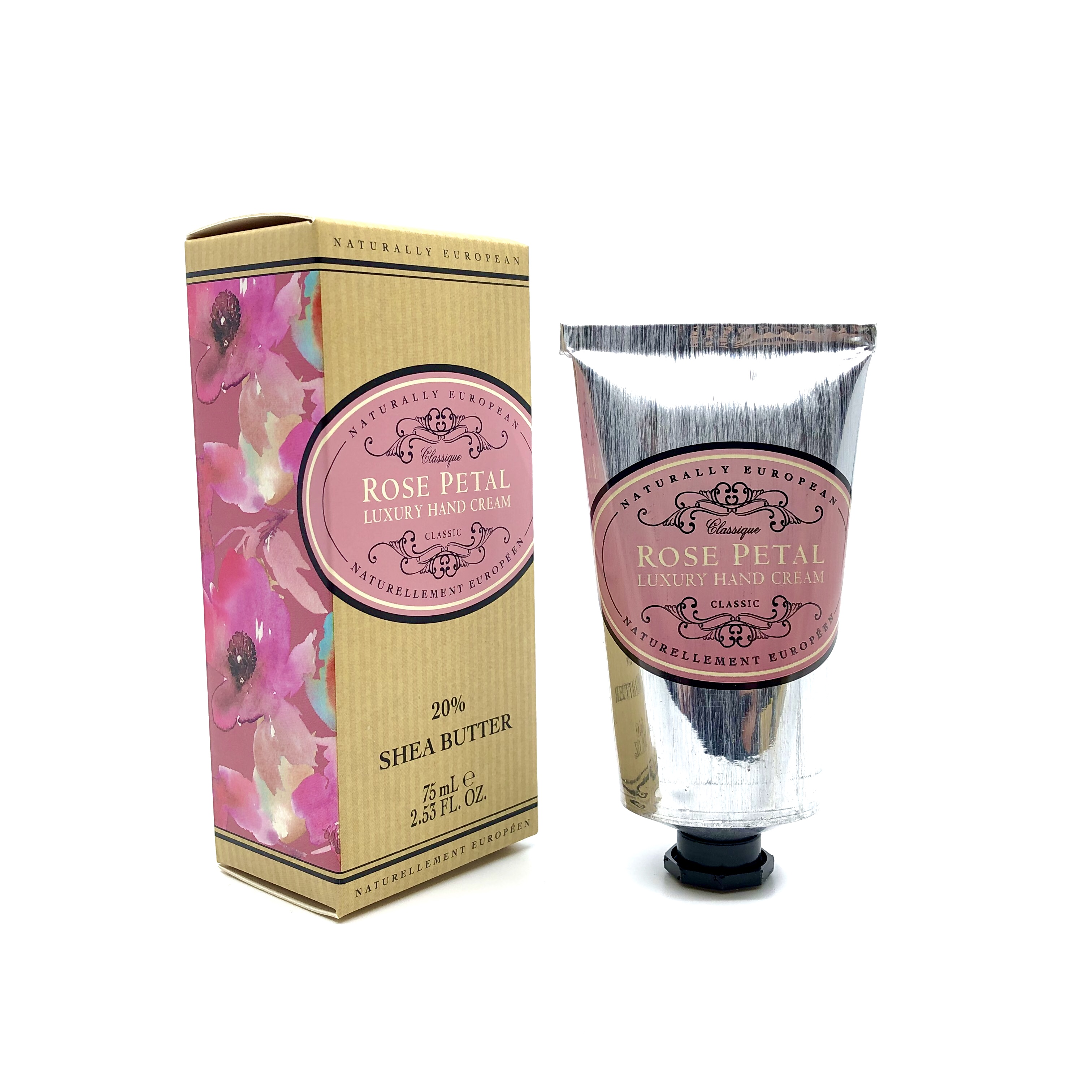 Naturally European Luxury Hand Cream Rose Petal