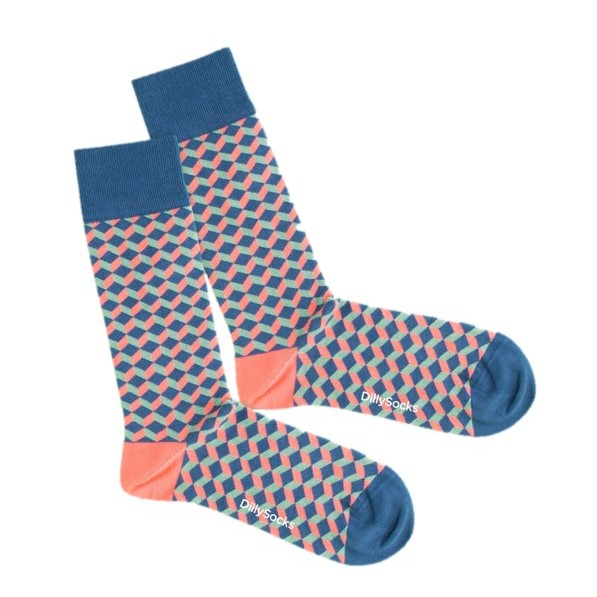 Dilly Socks Afterglow Dice Gr. 36-40