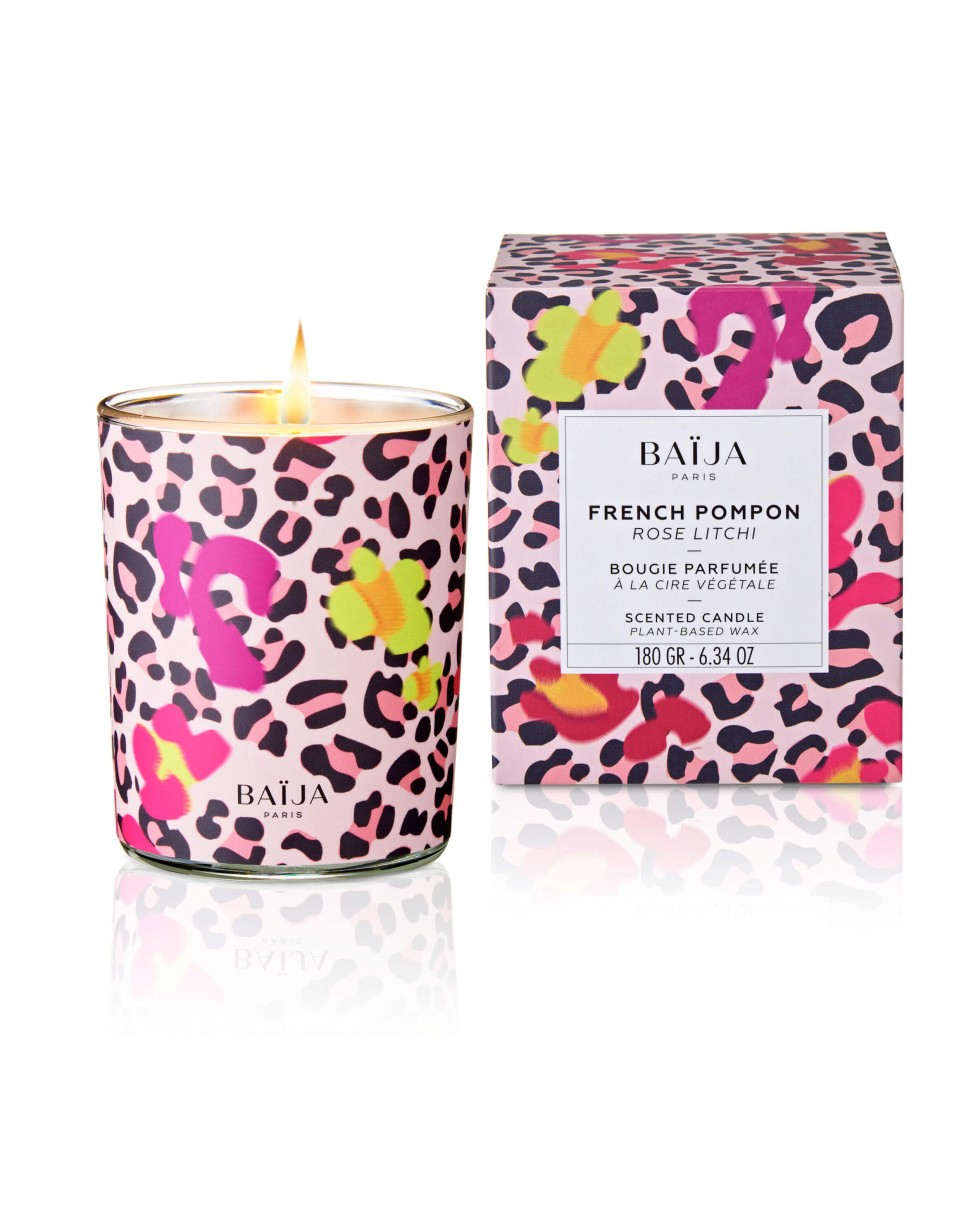 Baija Candle French Pompon - Rose Litchi